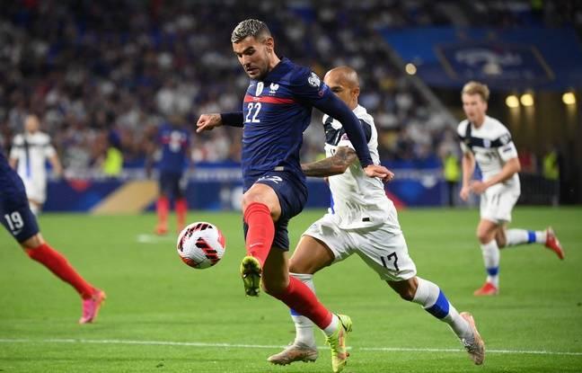 Le Milanais Theo Hernandez a apporté tout son mordant offensif dès sa première sélection en équipe de France. FRANCK FIFE
