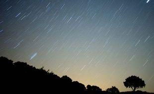 Pluie de météorites dans le ciel espagnol, à proximté de Grazalema, dans le sud de l'Espagne, dans la nuit du 13 au 14 août.