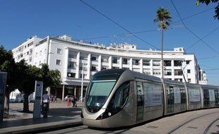 Le tramway de Rabat-Salé, le 10 octobre 2016.
