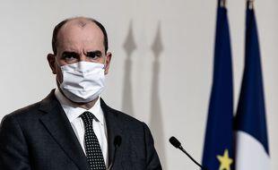 Jean Castex lors de la conférence de presse sur le Coronavirus le 10 décembre.