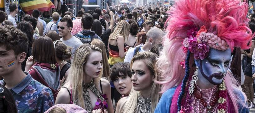 Lors d'une précédente Gay Pride à Lyon.