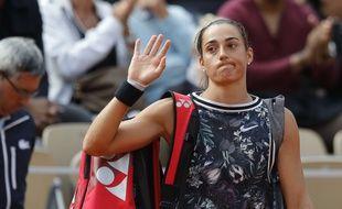 Caroline Garcia est éliminée dès le deuxième tour de Roland-Garros.