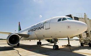 Un avion de la compagnie Afriqiyah Airways à Milan en 2010.