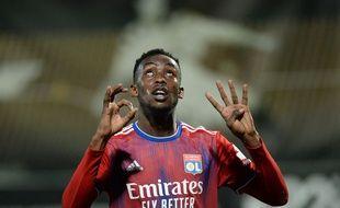 Tino Kadewere a dédié son but inscrit à Angers (0-1) à son frère Prince, décédé en août, qui aurait eu 40 ans dimanche. JEAN-FRANCOIS MONIER