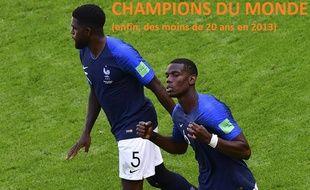 Paul Pogba et Samuel Umtiti sont deux des six représentants de la génération 93 en équipe de France pour la Coupe du monde 2018.