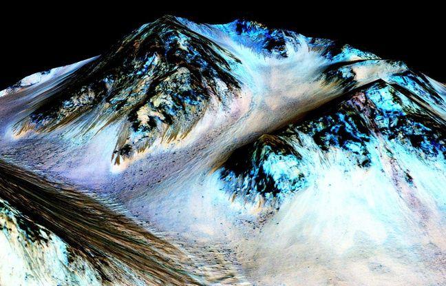 Image colorisée prise par la sonde Mars Reconnaissance Orbiter.