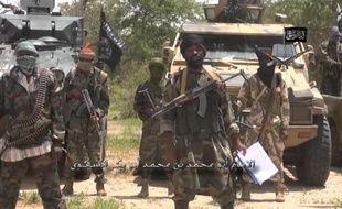 Une capture d'écran d'une vidéo diffusée par Boko Haram montre le leader gu groupe terroriste nigérian le 13 juillet 2014