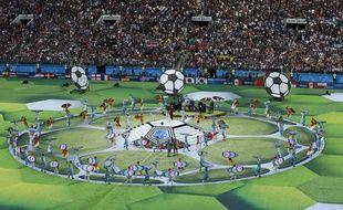 Robbie Williams avant le match Russie - Arabie Saoudite