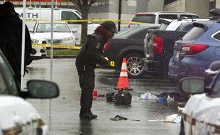 Une personne a été tuée par balle à Bethesda, dans la banlieue de Washington, le 6 mai 2016.