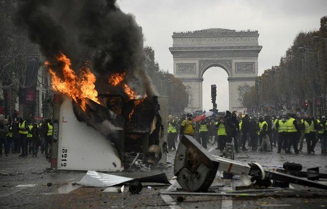 «Gilets jaunes»: 103 interpellations ont eu lieu à Paris en marge de la manifestation
