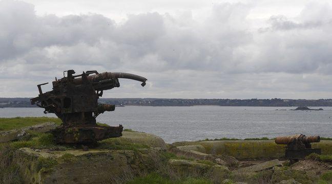 Les tempêtes font remonter des balles de fusil sur une île bretonne