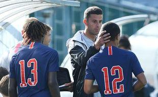 Thaigo Motta avec les moins de 19 ans du PSG.