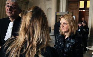 La femme de Vincent Lambert, Rachel Lambert (d), au tribunal de Reims, le 1er février 2016