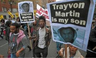 Une manifestation en hommage à Trayvon Martin, le mardi 10 avril, à New York.