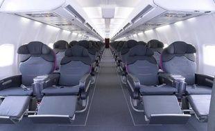 Vue intérieur d'un avion