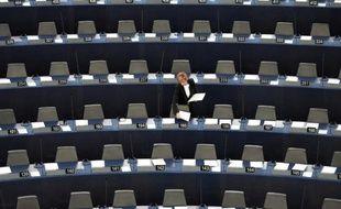 L'hémicyle du Parlement européen de Strasbourg le 23 novembre 2015
