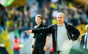 L'entraîneur toulousain Alain Casanova lors de TFC - Nantes en Ligue 1, le 4 mai 2014 à Toulouse.