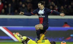 Zlatan Ibrahimovic face à Nantes, le 19 janvier 2014