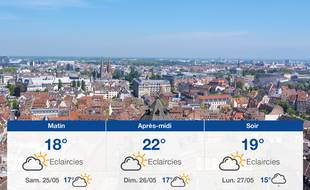 Météo Strasbourg: Prévisions du vendredi 24 mai 2019.