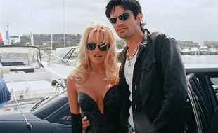 Pamela Anderson et Tommy Lee au festival de Cannes en 1996