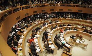 Salle du conseil au centre administratif.