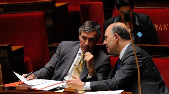 Jérôme Cahuzac et Pierre Moscovici à l'Assemblée nationale, le 16 juillet 2012. – WITT/SIPA