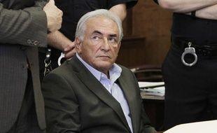 L'ancien patron du FMI Dominique Strauss-Kahn lors de son audition au tribunal de Manhattan le 19 mai 2011, à New York alors qu'il est accusé de «tentative de viol».