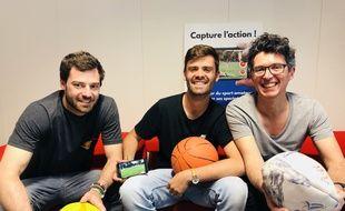 Les trois cofondateurs bordelais de l'application « Rematch ».