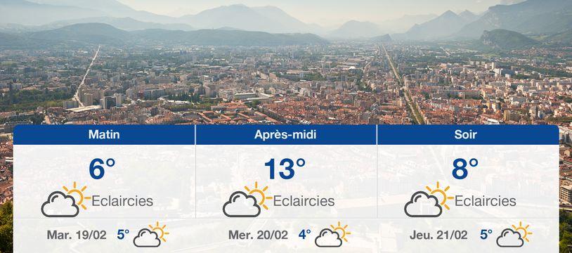 Météo Grenoble: Prévisions du lundi 18 février 2019
