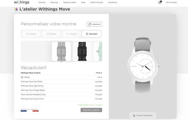 La nouvelle montre Withings Move se customise sur Internet.