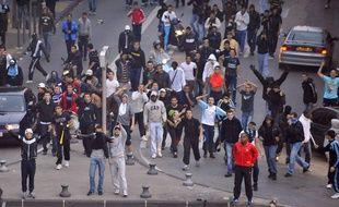 Des supporters mécontents du report du match OM-PSG, le 25 octobre 2009, à Marseille.