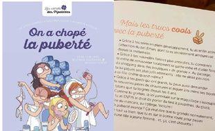 """Le livre """"On a chopé la puberté"""", des éditions Milan."""