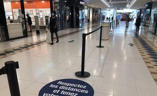 Le centre commercial Atlantis à Nantes le 11 mai 2020