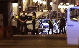 La camionnette qui a foncé sur la foule sur les Ramblas à Barcelone