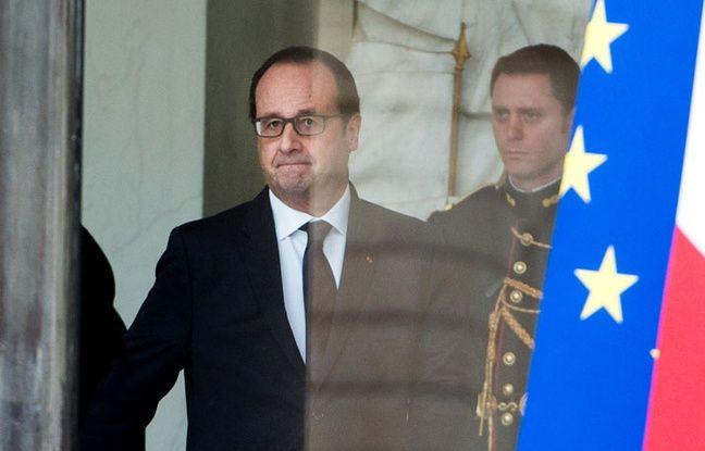François Hollande à l'Elysée le 21 janvier 2015.