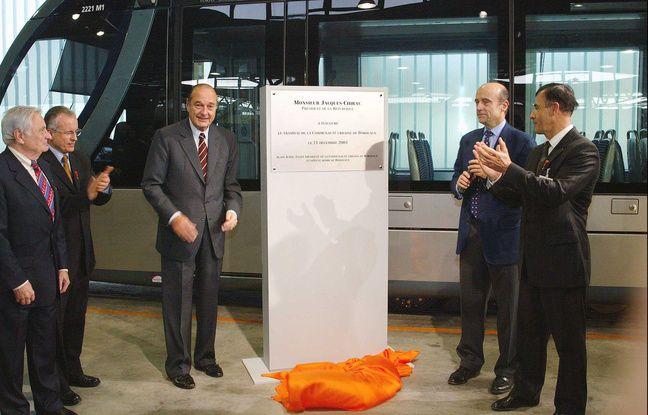 inauguration de la ligne A du tramway par Jacques Chirac et Alain Juppé en 2003