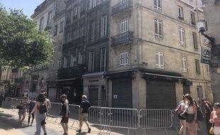 Les immeubles visés par l'arrêté de péril imminent.