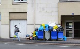 Des ordures ménagères qui s'entassent à Nantes.