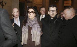 Françoise Bettencourt Meyers, la fille de Liliane Bettencourt, arrive au Palais de justice de Bordeaux, le 27 janvier 2015