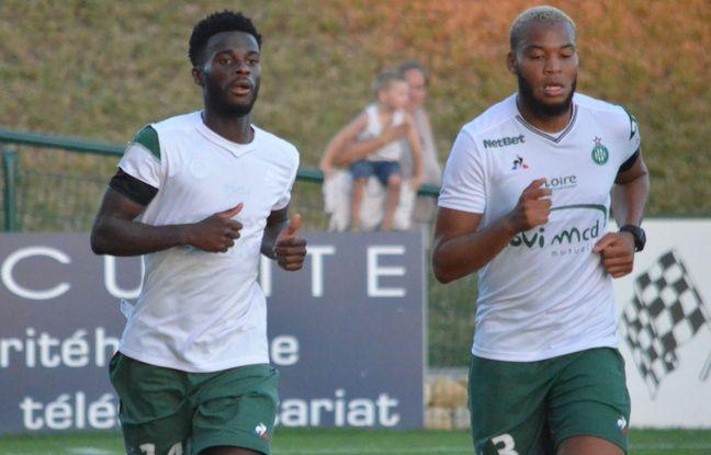 Ici lors du footing d'après match aux côtés de Pierre-Yves Polomat, Jonathan Bamba (à gauche) a dû marquer des points auprès d'Oscar Garcia.