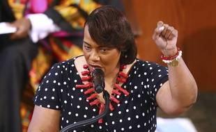 Bernice King, fille de Martin Luther King, ce mardi 23 juin à Atlanta.