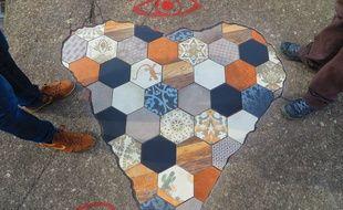 Ememen répare et colore les trottoirs lyonnais