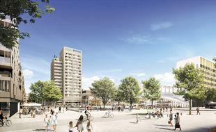 La future Place Centrale de Toulouse Aeropsace, aussi grande que la place du Capitole.