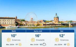 Météo Toulouse: Prévisions du lundi 19 avril 2021