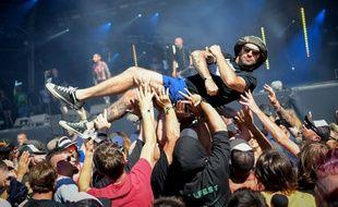 Le festival de musique metal Hellfest, le 22 juin 2018.