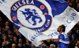 Didier Drogba de Chelsea pendant un match de la Ligue des champions contre Valence à Stamford Bridge le 6 decembre 2011.