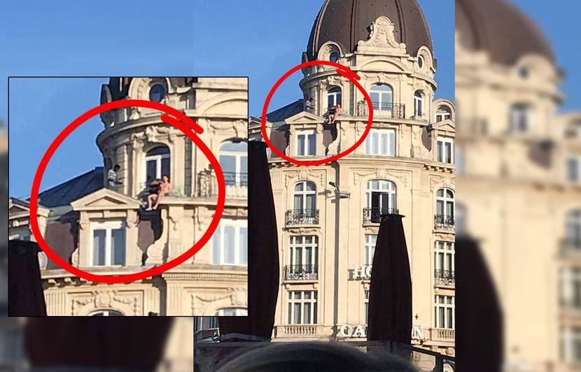 Lille: Que faisait un homme apparemment nu sur une corniche de l'hôtel Carlton?
