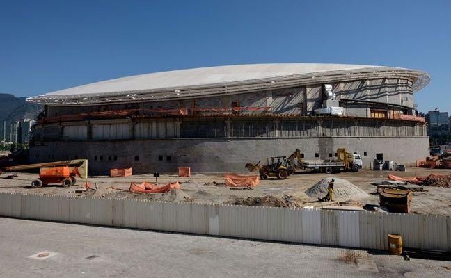 L'état du vélodrome dans le Parc olympique de Barra est préoccupant.