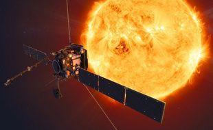 Image d'illustration, publiée par l'Agence spatiale européenne, montrant la sonde Solar orbiter dans l'espace.
