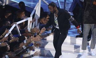 Kendrick Lamar aux MTV Video Music Awards, en août 2017.
